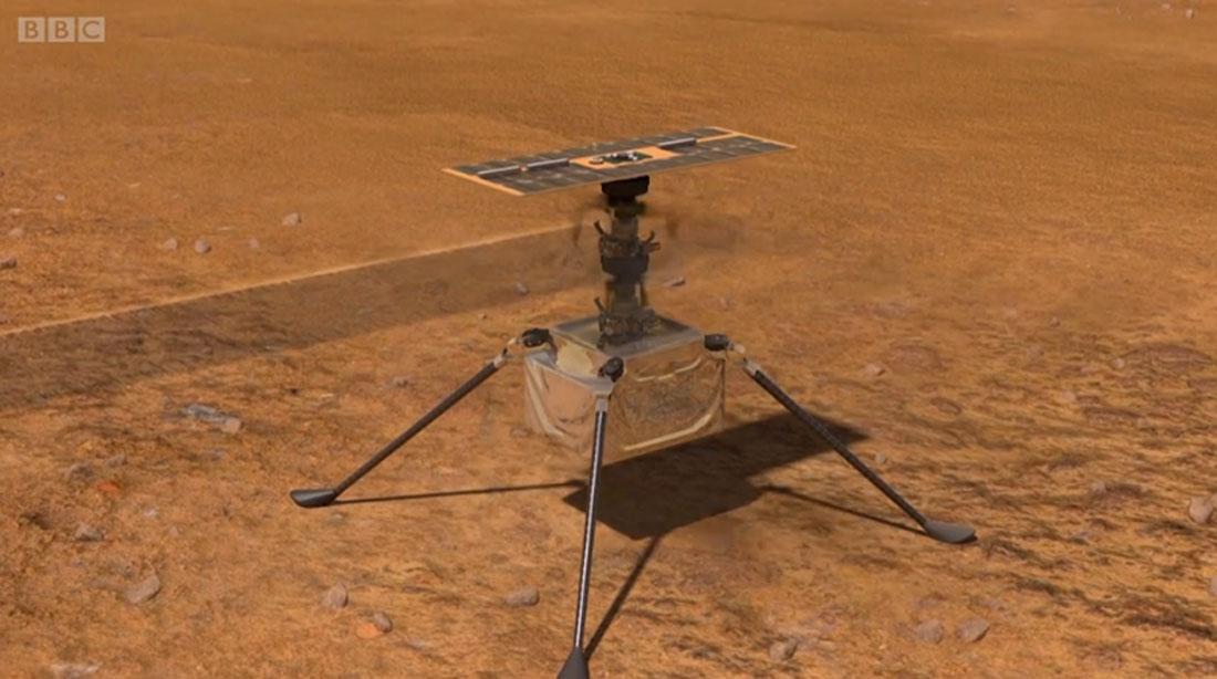 मंगल ग्रहमा हेलिकोप्टर उडाइँदै !